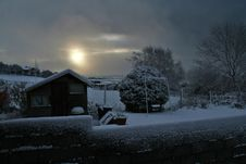 Free Snowy Morning Stock Photography - 1229882