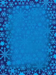Free Grungy Snowflakes Border Stock Photography - 1229892