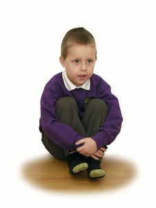 Free Little Schoolboy, Concentrated, Focused, Listening Stock Photography - 12218932