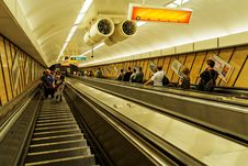 Free Escalator, Public Transport, Metropolitan Area, Rapid Transit Royalty Free Stock Photo - 122107595