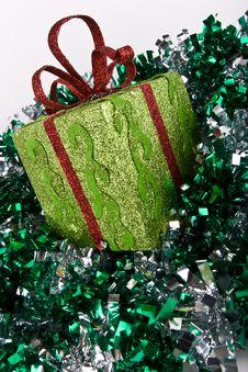 Gift Box And Sprangle Royalty Free Stock Photos