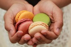 Free Macaroon, Finger, Hand, Sweetness Stock Images - 122204364