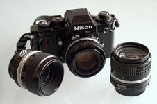 Free Camera, Single Lens Reflex Camera, Cameras & Optics, Digital Camera Stock Photos - 122204633