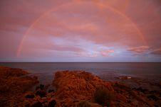 Free Sky, Sea, Horizon, Rainbow Stock Image - 122204711
