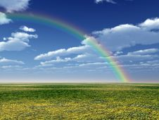 Free Beautiful Rainbow Royalty Free Stock Photos - 12230638