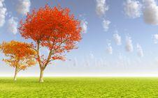 Free Autumn Landscape Royalty Free Stock Photos - 12230908