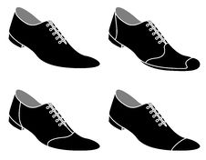 Men S Shoes With Laces Stock Images