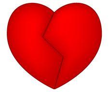 Free Broken Red Heart Stock Photos - 12265873