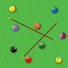 Free Billiard Seamless Pattern Stock Photos - 12270993