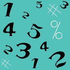 Free Number Seamless Pattern Stock Photos - 12271163