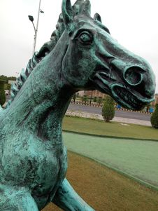 Free Horse, Statue, Sculpture, Green Royalty Free Stock Image - 122828316