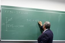 Free Blackboard, Lecture, Professor, Presentation Royalty Free Stock Photography - 122828767