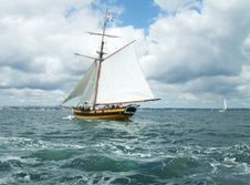 Free Sailing Ship, Tall Ship, Schooner, Brigantine Royalty Free Stock Photo - 122828905