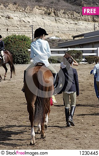 Young horse rider Stock Photo