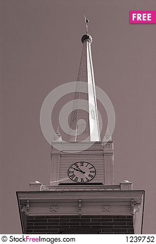Free Church Clock Tower Stock Photography - 1239752