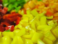 Free Four Colors Paprika 4 Stock Photography - 1230702