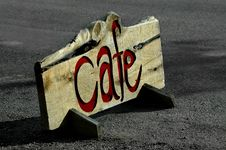 Free Cafe Sign Royalty Free Stock Photos - 1231268
