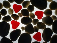Free Hearts And Stones Royalty Free Stock Photos - 1232198