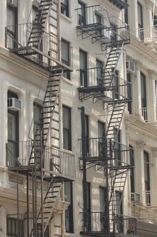 Free Fire Escape On Building Royalty Free Stock Image - 1232476