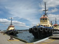 Free Tugboat Fleet Royalty Free Stock Photography - 1232927