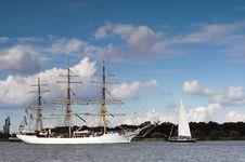 Ship Parade Royalty Free Stock Photo