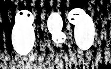 Free Ghosts On Fire Stock Image - 1234531