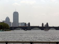 Free Mid Afternoon Photo Of Boston Skyline Stock Images - 1234734