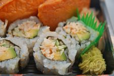 Sushi For Dinner Royalty Free Stock Photography
