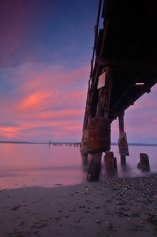 Free Pier At Sunset Royalty Free Stock Images - 1235809