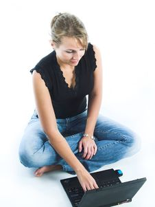 Free Women Using Laptop Computer Stock Photo - 1236010