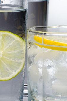 Free Lemon Lime Water Stock Photography - 1237152