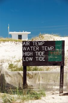 Free Beach Weather Conditions Sign Stock Photo - 1238010