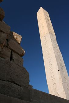 Obelisk At The Karnak Temple Royalty Free Stock Image