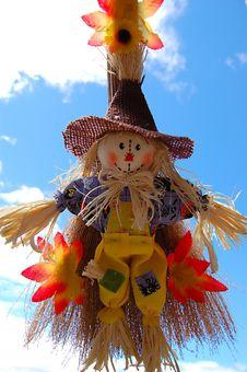 Little Cute Scarecrow Stock Photo