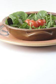 Free Green Salad And Ceramic Bowls Stock Image - 1239551