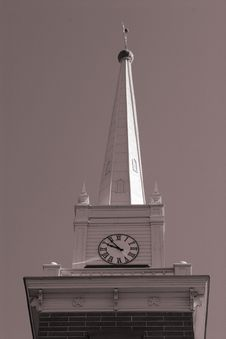 Church Clock Tower Stock Photography