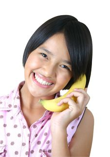 Free Banana Phone (series) Royalty Free Stock Photo - 1239945