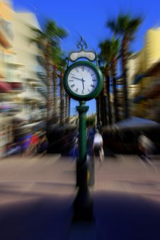 Free Time Is Not Powerful. Timeless. Street Clock Stock Image - 123058591
