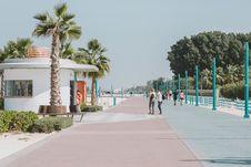 Free Walkway, Boardwalk, Palm Tree, Arecales Stock Photography - 123126012