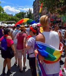 Free Crowd, Festival, Pride Parade, Event Royalty Free Stock Photo - 123126525
