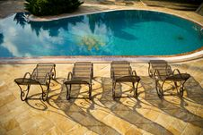 Free Swimming Pool, Furniture, Sunlounger, Outdoor Furniture Stock Photo - 123127650