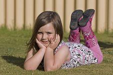 Free Grass, Sitting, Girl, Leg Stock Photography - 123239642