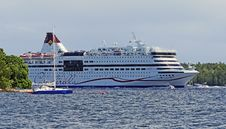 Free Passenger Ship, Cruise Ship, Ship, Water Transportation Stock Photos - 123240153