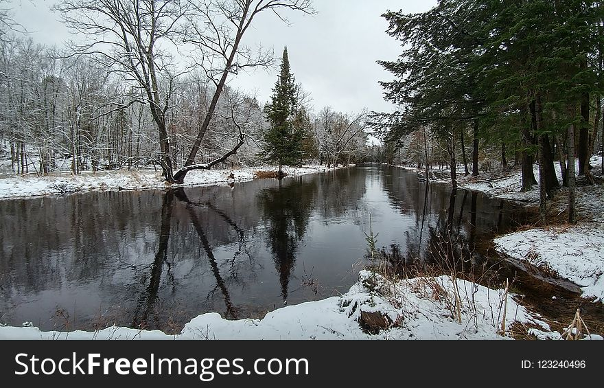 Water, Reflection, Waterway, Winter