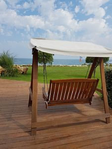 Free Canopy, Outdoor Furniture, Sunlounger, Furniture Royalty Free Stock Photos - 123314768