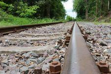 Free Track, Rail Transport, Path, Rubble Royalty Free Stock Photos - 123400248