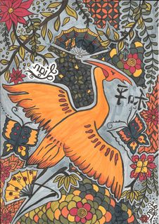 Free Art, Fauna, Orange, Pattern Stock Image - 123470131
