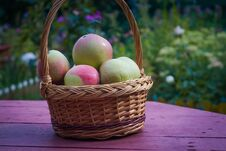Free Apples In A Basket Stock Image - 123648101