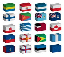 Free 3D Flags Set Stock Photography - 12389942