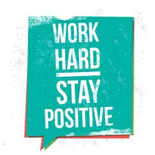 Free Work Hard Stay Positive Motivational Quotes Banner Royalty Free Stock Images - 123955439